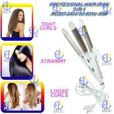 EELIC APR-W819 GOLD 3IN1 HAIR BEAUTY SET PROFESSIONAL HAIR CURLER HAIR STRSIGHTENER HAIR TIGHT CURLS CATOKAN KERITING DAN PELURUS RAMBUT DAYA 45 WATT