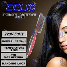 EELIC APR-W938 HITAM HAIR STRAIGHTENER BRUSH SISIR CATOK SISIR PELURUS RAMBUT - ALAT PELURUS