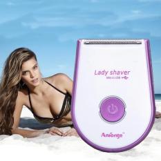 Electric Epilator Perangkat Cukur dengan Pengisian Khusus Lady Epilator Cukur Ketiak Cukur Rambut Ketiak dan Rambut Kemaluan Private- INTL