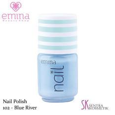 EMINA Nail Polish Water Base 102 Blue River - 5 ml