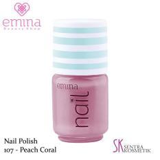EMINA Nail Polish Water Base 107 Peach Coral - 5 ml
