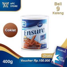 Ensure Coklat 400gr 9 Kaleng + Sodexo 100.000