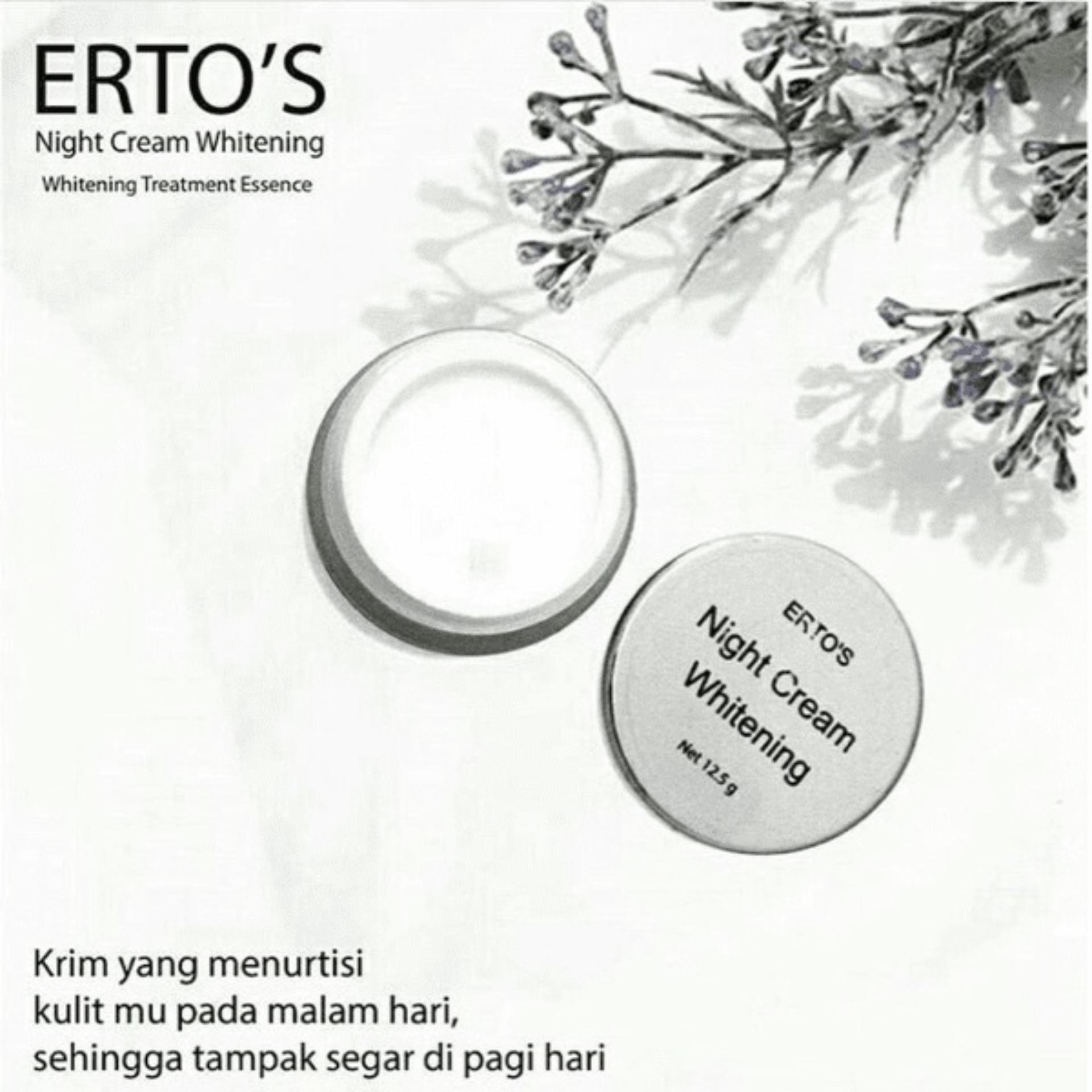 ERTOS Dermo Night Care Whitening Cream - Krim Malam - ERTO'S Skincare