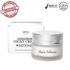 Jual Beli Ertos Dermo Night Care Whitening Cream Krim Malam Mencerahkan Melembabkan Original 100 12 5Gr