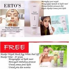 Promo Ertos F*c**l Treatment 100 Asli 100Ml Masker Wajah Mask Egg White Peel Off Masker Telur Di Dki Jakarta