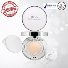 Harga Ertos Original Ertos Foundation Bedak Ertos Ee Whitening Air Cushion 15Gr Branded