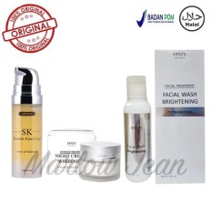 Ertos Original Paket Ertos Serum Kinclong Ertos Night Cream Ertos F*c**l Wash Brightening 3 Item Di Dki Jakarta