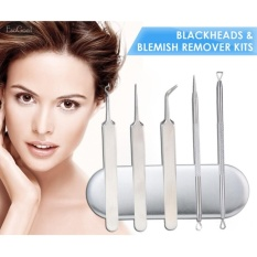 Harga Esogoal 5Pcs Blackhead Remover Set Acne Pimple Comedone Extractor Whitehead Removal Tool For F*C**L Skin Care With Metal Case Intl Lengkap