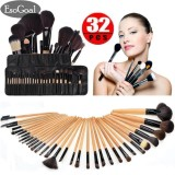 Review Esogoal Profesional 32 Pcs Makeup Brushes Kit Alat Make Up Kosmetik Set Dengan Pouch Bag Intl Terbaru
