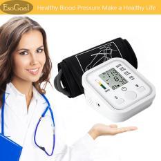 Esogoal Tujuan Otomatis Digital Lcd Lengan Darah Tekanan Monitor Lcd Jantung Beat Rumah Sphgmomanometer Putih Tiongkok