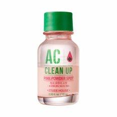 Etude House AC Clean Up Pink Powder Spot Acne Lotion Krim Jerawat