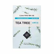 Etude House Theraphy Air Face Mask Fresh + Skin Dearing Tea Tree @20ml - 1 Pcs