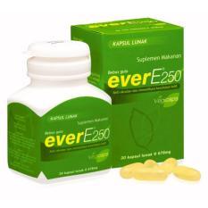 Ever E 250 Iu 30s - Ever-E, Vitamin E, Kesehatan Kulit, Suplemen Kulit, Anti Aging, Anti Penuaan Dini, Mencegah Jerawat, Flek Hitam, Keriput, Meningkatkan Kesuburan By Figur Sehat.