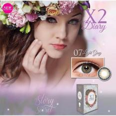 Kualitas Exoticon X2 Diary Softlens 07 Light Grey Free Lenscase X2