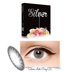 Exoticon X2 Ice Silver Softlens - ASH Grey + Gratis Lenscase