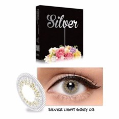 Exoticon X2 Ice Silver Softlens + Free Lenscase - Silver Light Grey 03