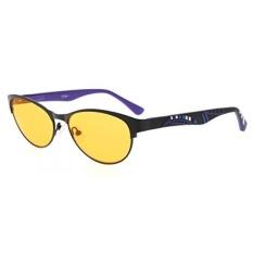Eyekepper Komputer Gaming Kacamata Baca dengan Kualitas Optik Bingkai Anti Blue Light Radiasi Anti Glare UV400 Mengurangi Kelelahan Mata- 96.9% Blue Light Blocking Orange Tinted Lens (Hitam/Ungu, + 1.75)-Intl