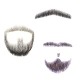 Fake Beard Man Mustache Word Simulation 100 Human Hair Full Hand Tied For Party Intl Dki Jakarta Diskon
