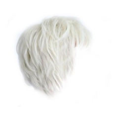 Fashion Laki-laki Pendek Berambut Pirang Platinum Nasi Putih Lurus Rambut Palsu