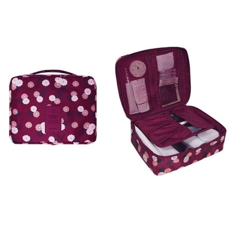 Penjualan Fashion Pria Wanita Tas Rias Kantong Kosmetik Beauty Case Make Up  Organizer Tas Perlengkapan Mandi Kit Penyimpanan Perjalanan Mencuci Kantong-Intl  ... 64de759e38