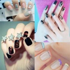 Harga Fashion Multicolored Nails Striping Line Tape Diy Nail Art Tips Decoration Sticker Ribbons Roll Ribbon Decorations Intl