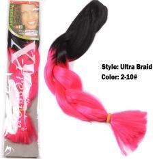 Fashion Sintetis Rambut Ekstensi Gradient Ultra Brazili Braid Xpression Blonde African Hair Piece (Warna Seperti Gambar) -Intl
