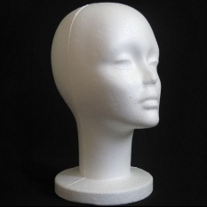 Female Styrofoam Mannequin Manikin Head Model Foam Wig Hair Glasses Display - intl