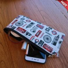 Firdaus Fashion - London Make Up Bag bahan dari Kanvas Import