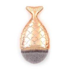 Spesifikasi Ikan Berbentuk Makeup Kosmetik Brush Mermaid Foundation Sikat Kecantikan Alat Intl Online