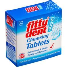 Fittydent cleansing tablet pembersih gigi palsu