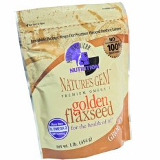 Harga Flaxseed Nature S Gem Premium Omega 3 Golden Ground 454Gr Flaxseed Nature S Gem Terbaik