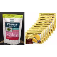 Harga Fleecy Bangle Tea Slimming Tea Teh Pelangsing 1Pcs Masker Mata Collagen 10 Sachet Fleecy Baru