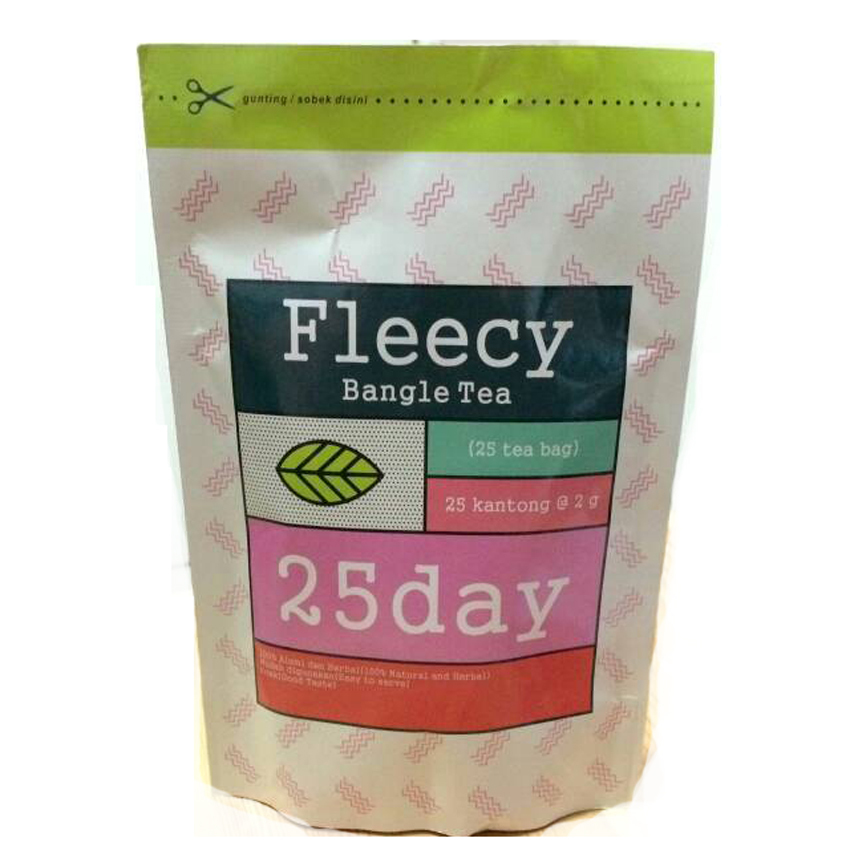 Review of Fleecy Bangle Tea - Slimming Tea - Teh Pelangsing anggaran terbaik - Hanya Rp90.795
