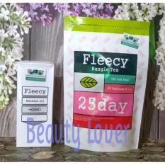 Beli Fleecy Paket Pelangsing Bangle Tea Dan Massage Gel Slimming Gel New Pack Original Online Jawa Barat