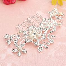Beli Bunga Kristal Berlian Imitasi Mutiara Diamante Sisir Rambut Klip Pernikahan Bridal Hadiah A Intl Terbaru