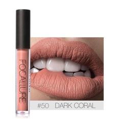 FOCALLURE 12 Warna Waterproof Matte Lipstik Cair Long Lasting   Lip Gloss Kelembaban Makeup #50