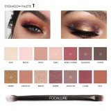 Model Focallure 14 Warna Pearlized Warna Eyeshadow Powder Eye Shadow Palette Set Intl Terbaru