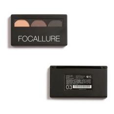Rp 63.000. FOCALLURE 3 Warna Eye Shadow Alis Mata Make Up Palet Wanita Kecantikan-IntlIDR63000