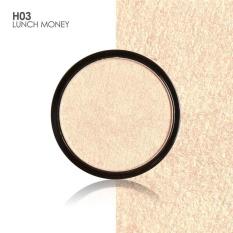 FOCALLURE 5 Colors Illuminator Brightening Face Pressed Highlighter Powder Easy to Wear for Face Shimmer H03 - intl