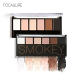 Review Focallure 6 Warna Kosmetik Shimmer Matte Eyeshadow Palet Tahan Lama Smokey Eye Makeup 5 Intl
