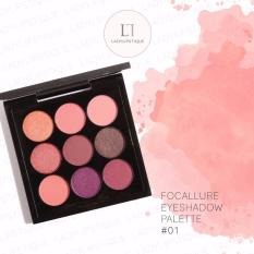 Diskon Focallure 9 Color Eyeshadow Pallete Eye Makeup Cosmetic No 1 Focallure
