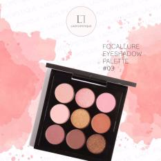 Review Focallure 9 Color Eyeshadow Pallete Eye Makeup Cosmetic No 3 Dki Jakarta