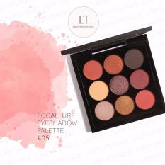 Kualitas Focallure 9 Color Eyeshadow Pallete Eye Makeup Cosmetic No 5 Focallure