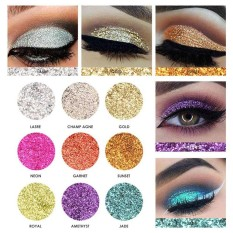 FOCALLURE 9 Colors Pearlized Color Eyeshadow Powder Eye Shadow Palette Set - intl