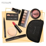Beli Buy One Get One Free Gift Focallure Lipstick Eyeliner Mascara Eyeshadow Blush Makeup Sets With Bag Intl Oem Murah