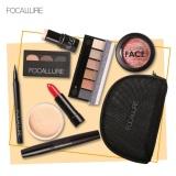 Set Makeup Focallure Lipstik Eyeliner Mascara Blush Eyeshadow Dengan Tas Cocok Untuk Kado Murah