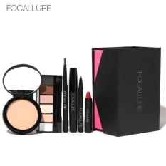 Harga Focallure Campuran Kosmetik Gift Case Palet Eyeshadow Eyeliner Maskara Lipstik Makeup Set 1 Merk Oem