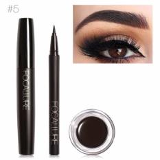 FOCALLURE Pro 3 Pcs Mata Penggunaan Riasan Harian Hitam Eyeliner Maskara dan Alis Cream 05-Intl