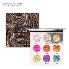 Promo Focallure Professional 9 Colors Makeup Eyeshadow Palette Eye Shadow Bright Glitters Makeup Lips Face Glitter Palette Intl Tiongkok
