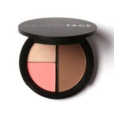 Focallure Repair Capacity Tri-color Powder Blush To Brighten The Shadow Outline